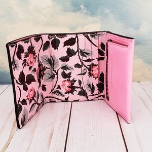COACH Small Trifold Wallet Floral Print